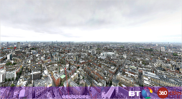 BT Tower 360 Panorama of London