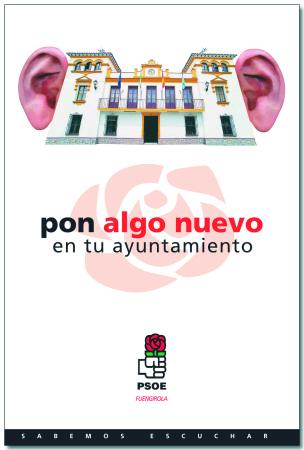 """Uno de los carteles de la campaña """"Sabemos Escuchar"""" para elecciones locales"""